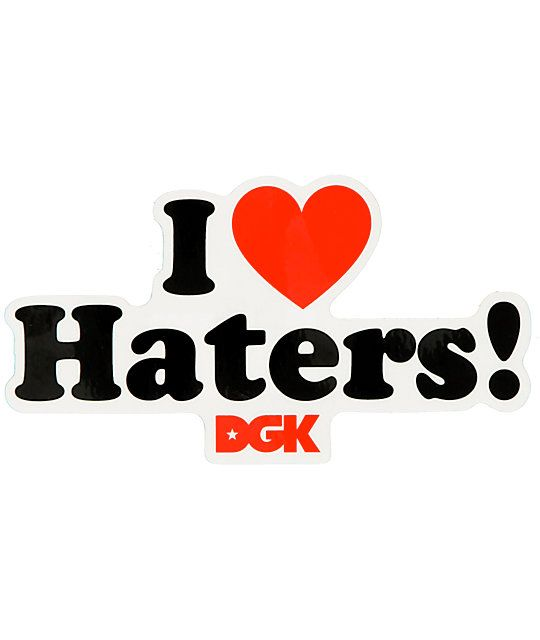 DGK Logo - DGK I Love Haters Assorted Sticker | Zumiez