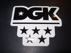 DGK Logo - DGK Logo Skate Sticker ALL STAR dirty ghetto kids skateboards ...