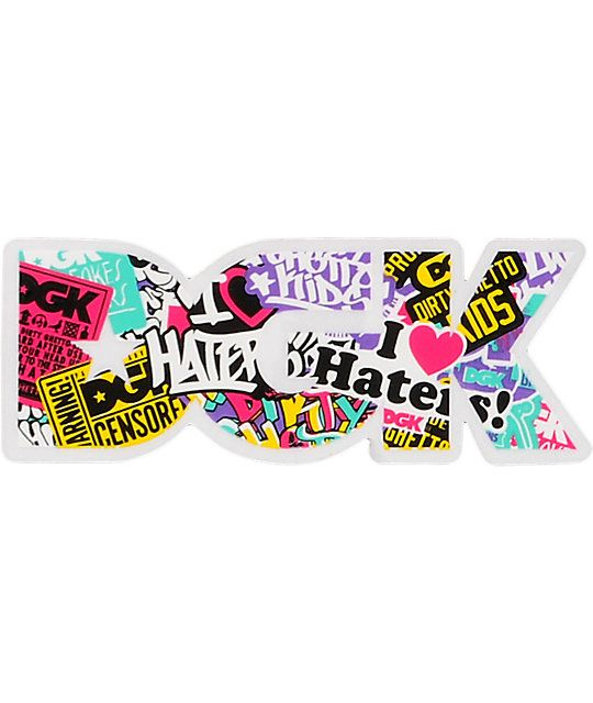 DGK Logo - DGK Collage Logo Sticker | Zumiez