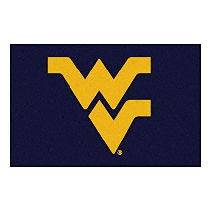 West Virginia University Logo - Amazon.com : West Virginia University Logo Area Rug : Sports & Outdoors
