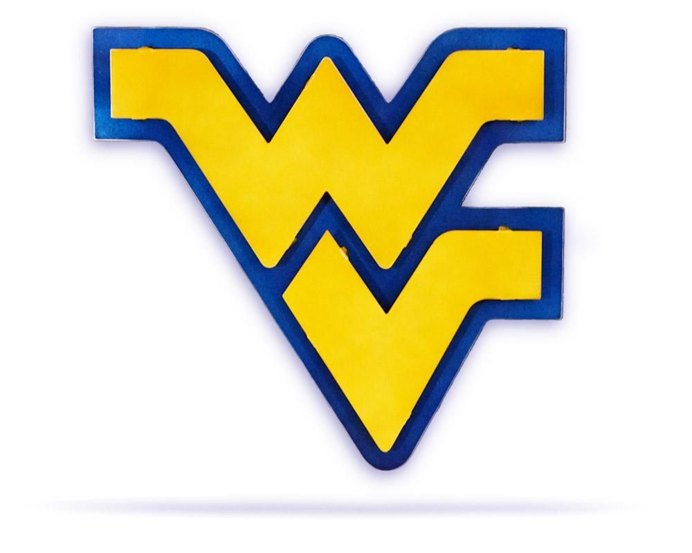West Virginia University Logo - West Virginia University 3D Metal Artwork - Steel - Hex Head Art