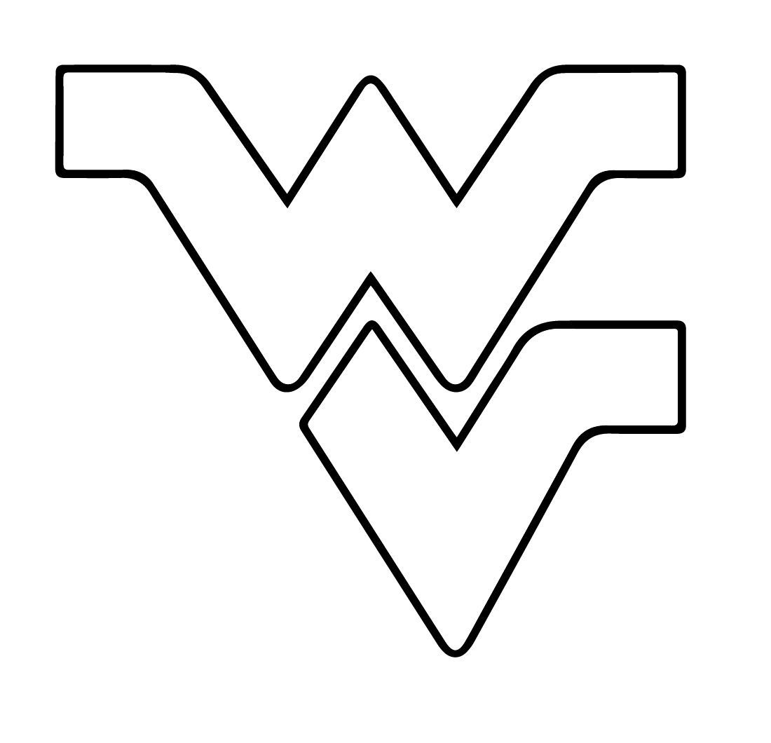 West Virginia University Logo - West Virginia State Stencil | DIY's I should try!!! | Virginia, West ...