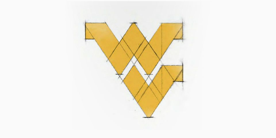 West Virginia University Logo - The Legend of the Flying WV | WVU Magazine | West Virginia University