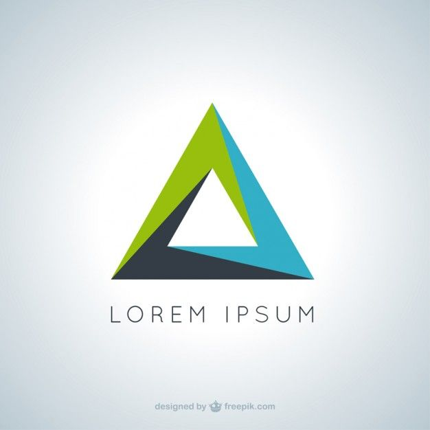 Three Color Triangle Logo Logodix