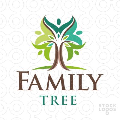 Family Tree Logo - Sold Logo: Family Tree | StockLogos.com | Research: Human Figure in ...