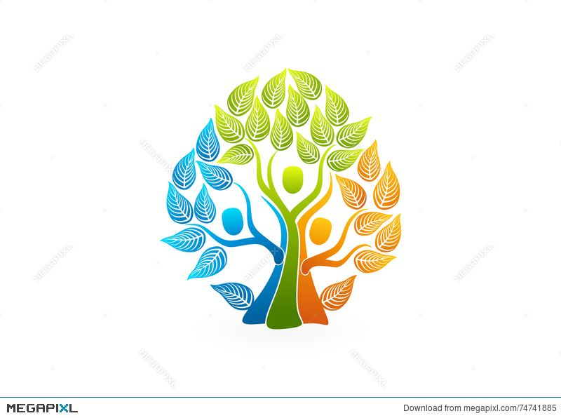 Family Tree Logo - Family Tree Logo, Healthy People Concept Design Illustration ...