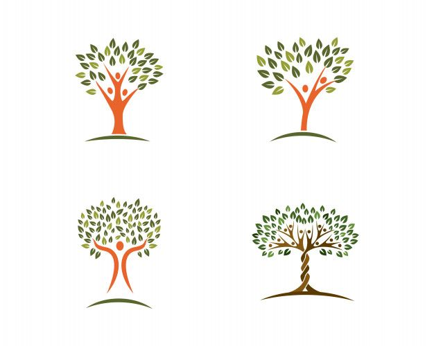 Family Tree Logo - Family tree logo design template Vector | Premium Download