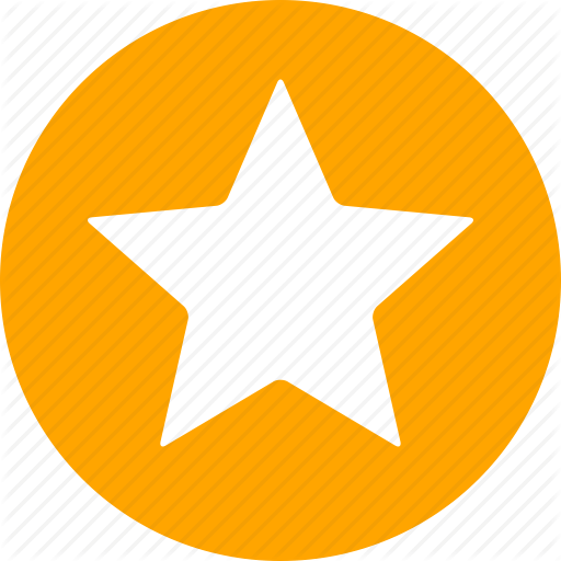 Star Symbol in Circle Logo - Achievement, bookmark, circle, favorite, ranking, star, yellow icon