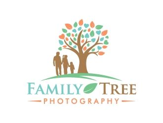 Family Tree Logo - Family Tree Photography logo design - 48HoursLogo.com
