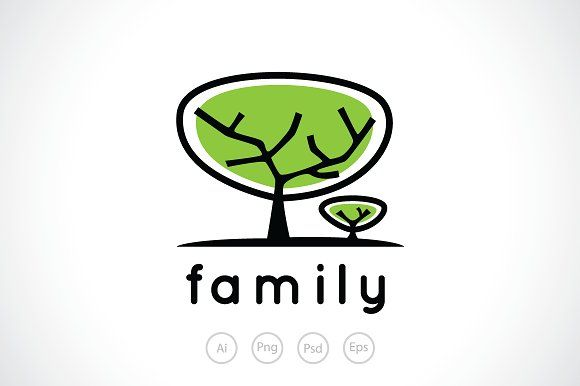 Family Tree Logo - Family Tree Logo Template ~ Logo Templates ~ Creative Market