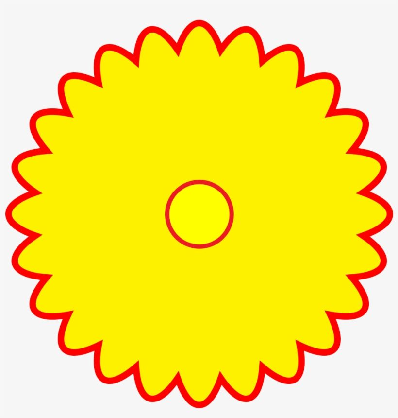 Yellow Flower Shaped Logo - Free Logo Yellow Flower Shaped Red Outline Png Format - 85830-000 ...