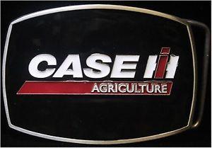 Case IH Agriculture White Enamel Belt Buckle