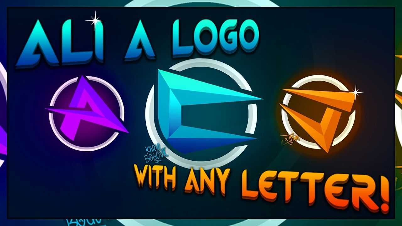 Letter V Gaming Logo - How to make a logo like Ali-A Part 2 | Covering All Letters ...