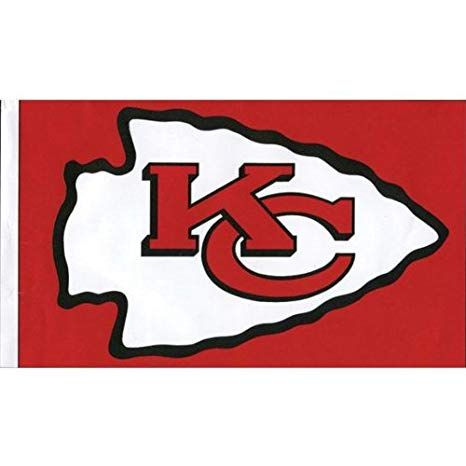 Kansas City Chiefs Logo - Amazon.com : Old Glory Kansas City Chiefs - Logo 3'x5' Flag ...