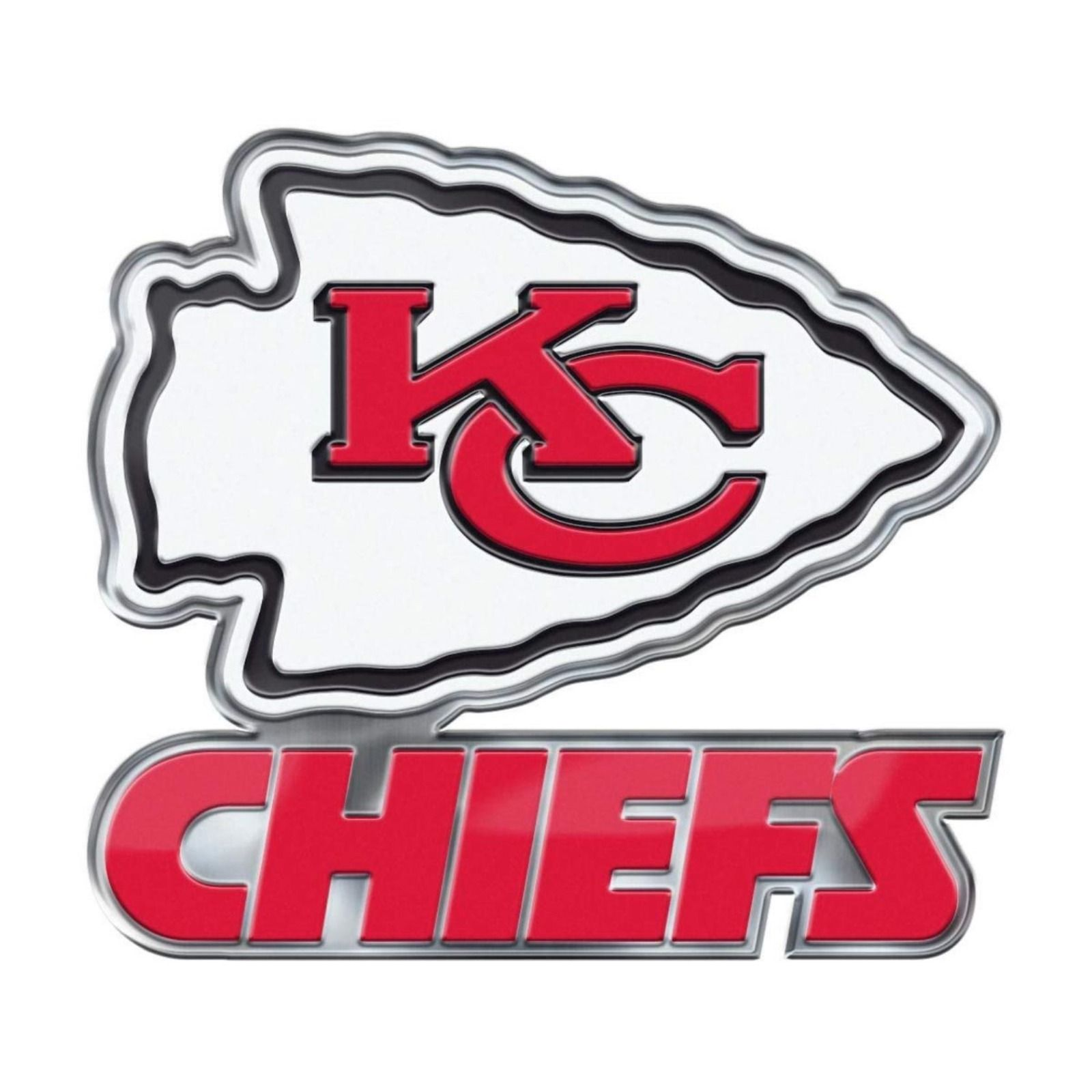 Kansas City Chiefs Logo - Kansas City Chiefs CE4 Alternate Logo Color Auto Emblem Chrome Decal ...
