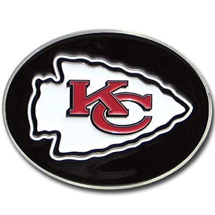 Kansas City Chiefs Logo - Amazon.com : NFL Kansas City Chiefs Logo Buckle : Belt Buckles ...