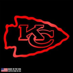 Kansas City Chiefs Logo - Kansas City Chiefs logo Vinyl Sticker Car Laptop Room window Decal ...