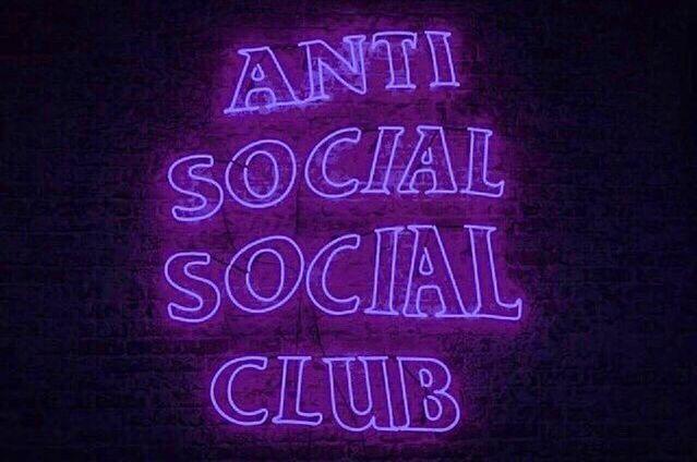 Purple Anti Social Social Club Logo