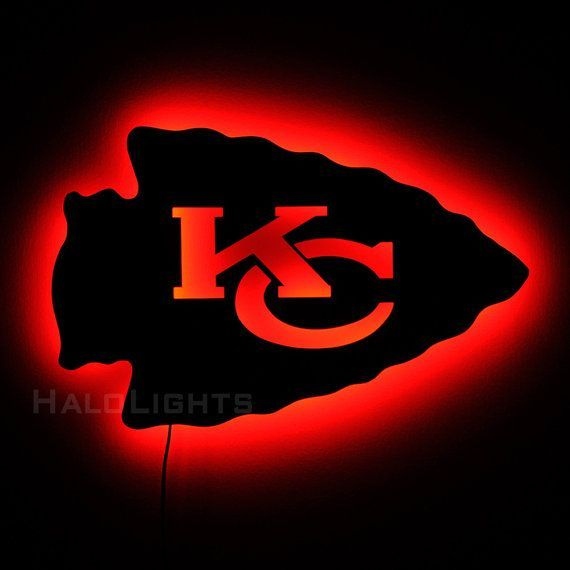 Kansas City Chiefs Logo - Lighted Kansas City Chiefs Sign - LED Backlit Chiefs Logo Sign ...