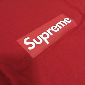 01e98d0a960e S a Red Box Logo - Supreme 20th Anniversary Box Logo Tee Red New S/