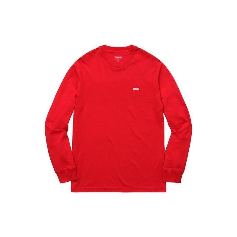 d43707ad1c36 S a Red Box Logo - Supreme Metallic Box Logo L/S Tee 'Red