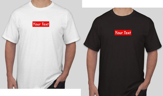 2c3ace55c60c S a Red Box Logo - Your Own Text Red Box Logo Supreme Custom t shirt