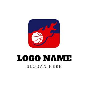 Fire Red and White Logo - LogoDix