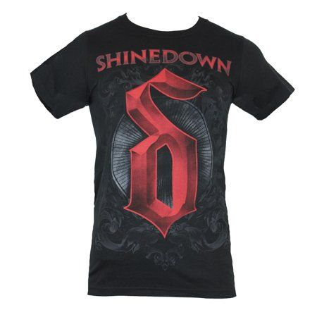 Shinedown Logo - IN MY PARENTS BASEMENT - Shinedown Mens T-Shirt - SD red Logo On ...