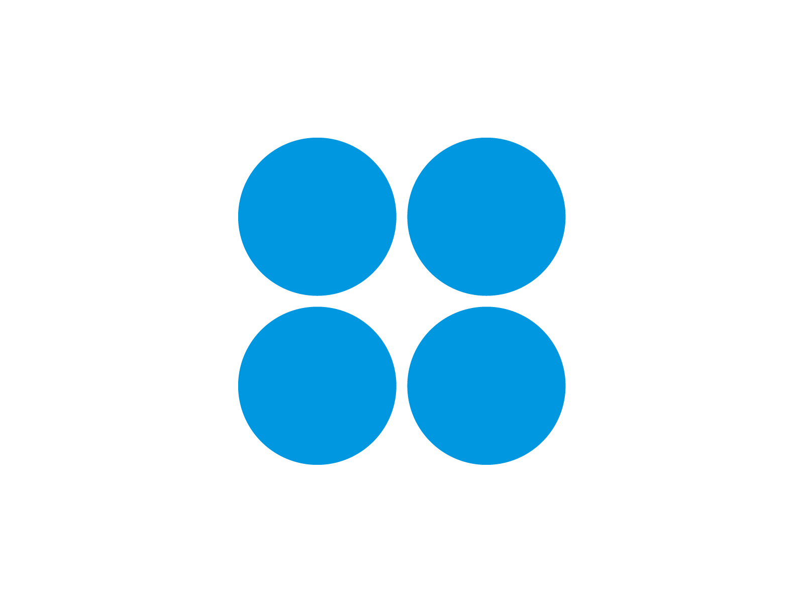 4 Blue Circles Logo - Four Squares In A Circle With A Logo Png Images