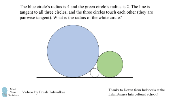 4 Blue Circles Logo - What Is The Radius? Great Problem For 14 To 15 Year Olds From ...