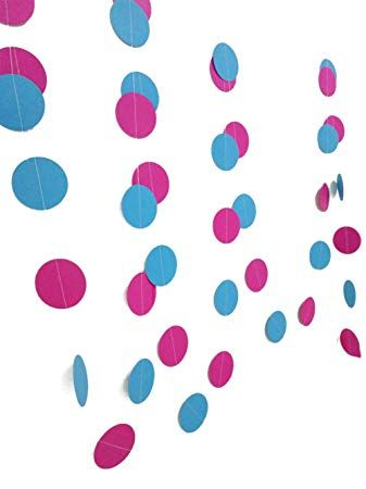 4 Blue Circles Logo - kanggest 4 m Pink Red and Blue Circle Garlands Circle Paper Garlands ...