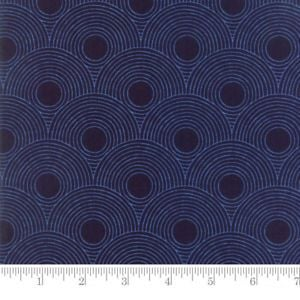4 Blue Circles Logo - Moda Fabric True Blue Circles Indigo - Per 1/4 Metre 752106328938 | eBay