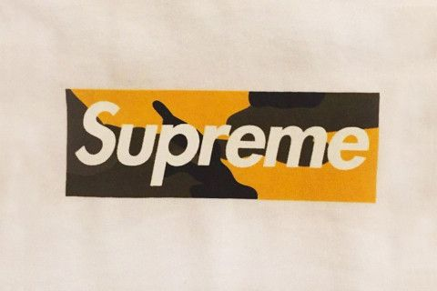 53823505d5a Orange Camo Supreme Logo - Here s Your First Look at Supreme s Brooklyn Box  Logo Tee