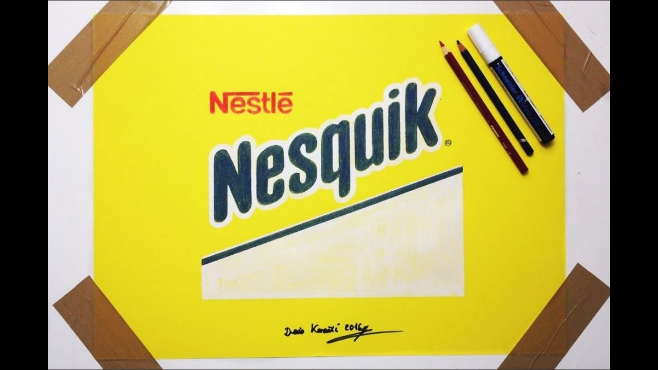 Nesquik Logo - Nesquik Logo Drawing - Fan Art Nestle - YouTube