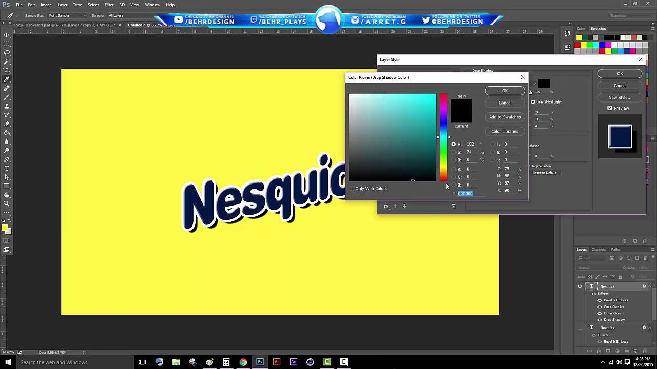 Nesquik Logo - Tutorial: Nesquik Logo (Photoshop CC) - Behr - YouTube