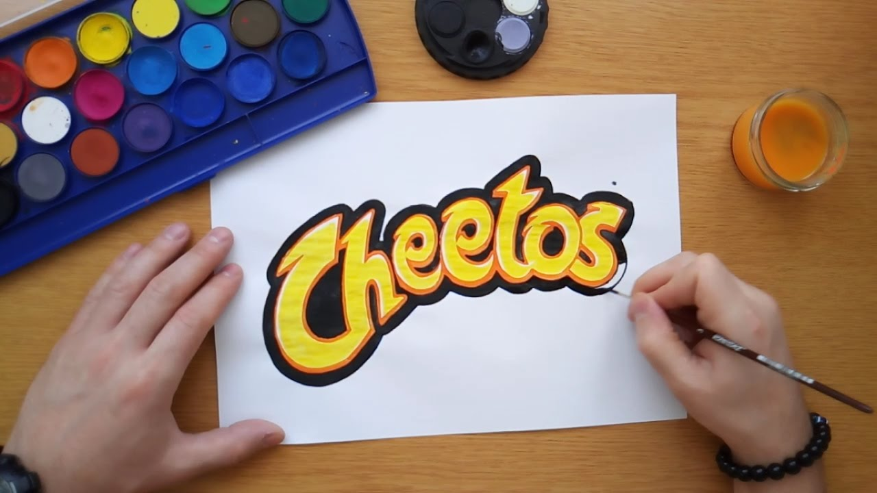 Cheetos Logo - How to draw the Cheetos logo (Drawing logos by hand) - YouTube