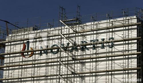 Novartis Logo - Swiss drugmaker Novartis' logo is seen at the company's plant in the ...