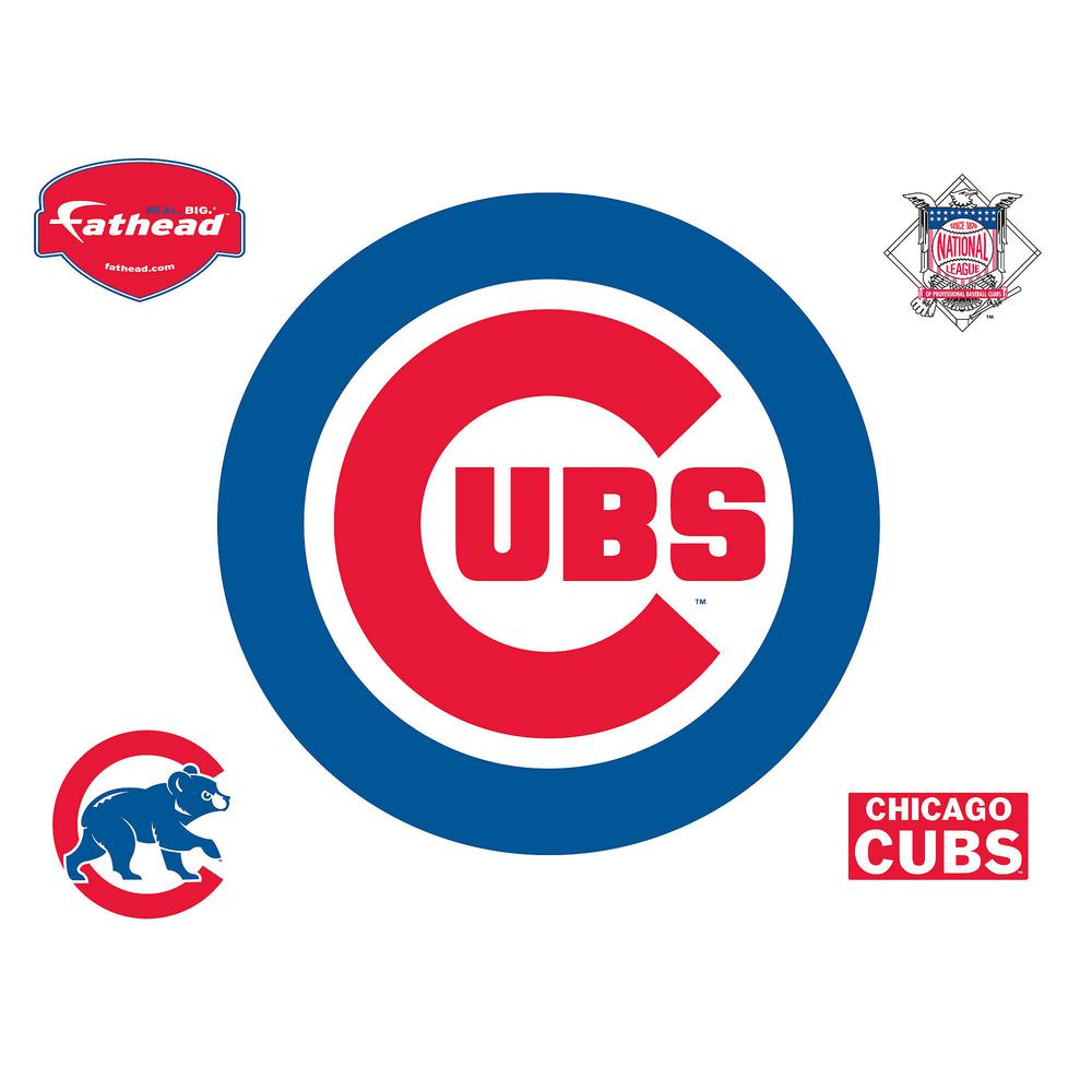 Chicago Cubs Logo - Fathead 37 in. H x 37 in. W Chicago Cubs Logo Wall Mural-63-63208 ...