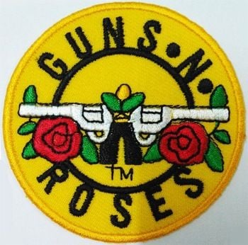 Guns N' Roses Logo - Guns N Roses Logo Sign Patches Embroidered Iron On Fabric ...