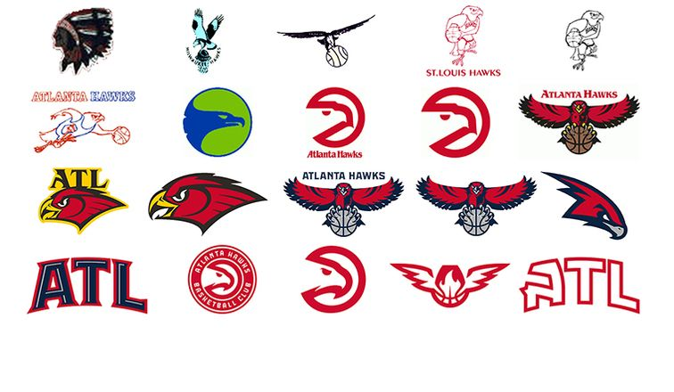 Atlanta Hawks Logo - Swipe Right On Hawks Logos Over Time | Atlanta Hawks