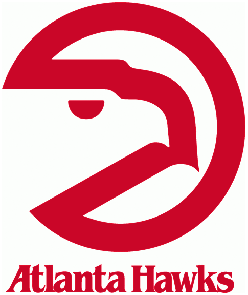 Atlanta Hawks Logo - Atlanta Hawks Primary Logo (1973) - A red circle with a hawks head ...