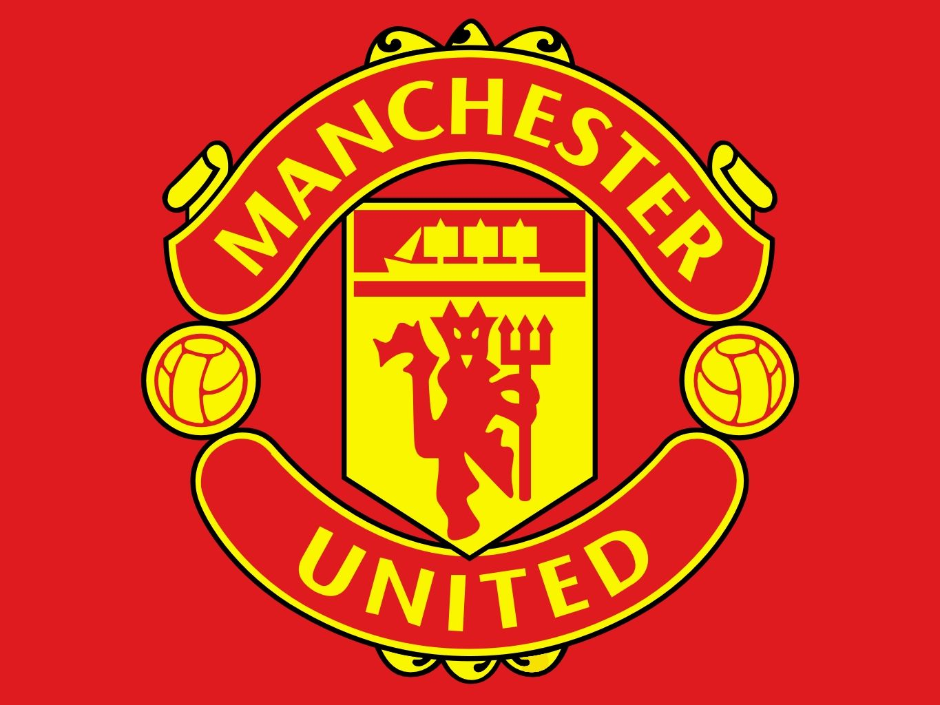 Manchester United Logo - Color of the Manchester United Logo | All logos world | Pinterest ...