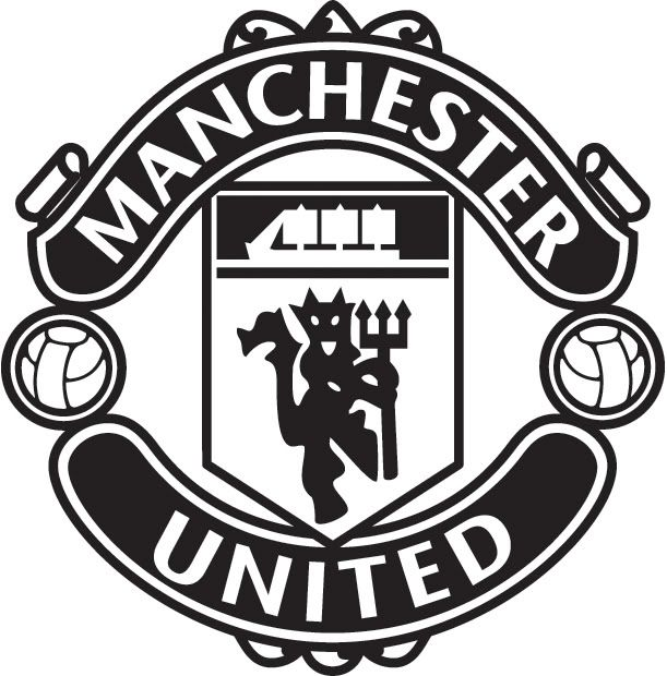 Manchester United Logo - manchester united logo black and white | Theme and Pictures ...