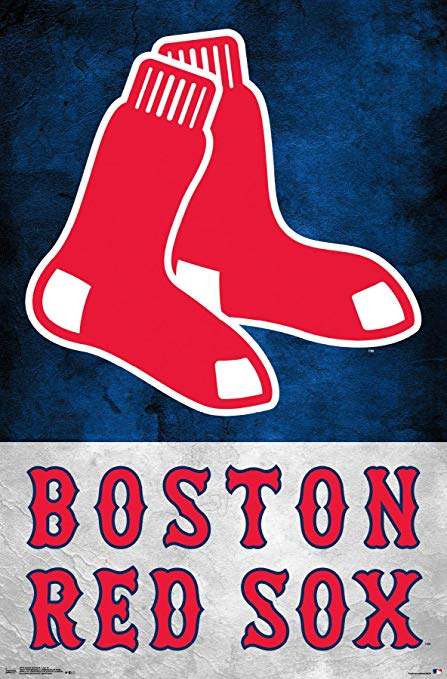 Boston Red Sox Logo - Amazon.com: Trends International Boston Red Sox-Logo Wall Poster ...