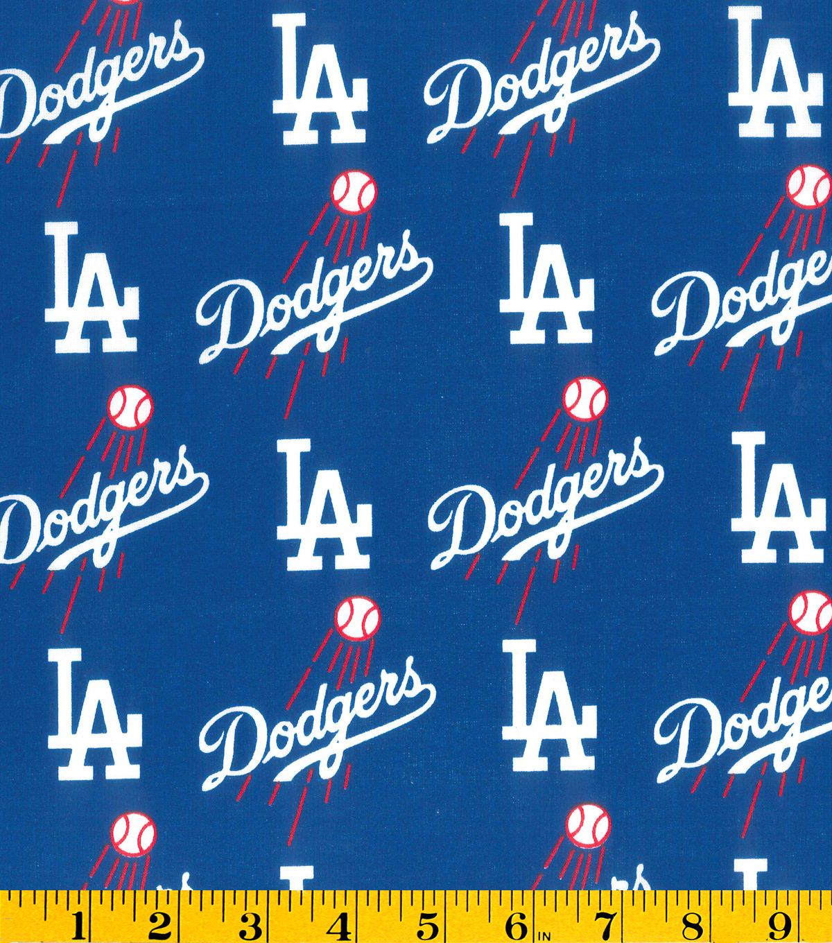 Los Angeles Dodgers Logo - Los Angeles Dodgers Cotton Fabric 58