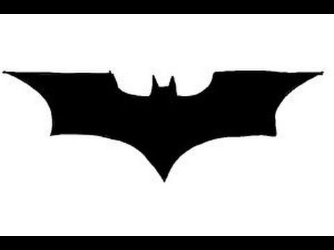 Batman Logo - How to Draw Batman logo - YouTube
