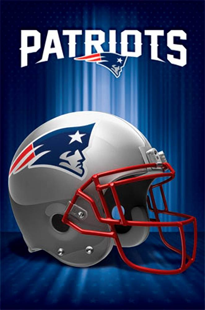 New England Patriots Logo - New England Patriots Logo 13 Wall Poster