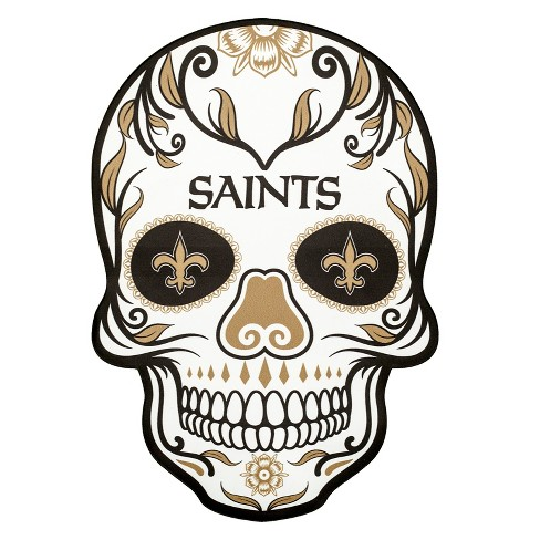 New Orleans Saints Logo - NFL New Orleans Saints Small Outdoor Skull Decal : Target