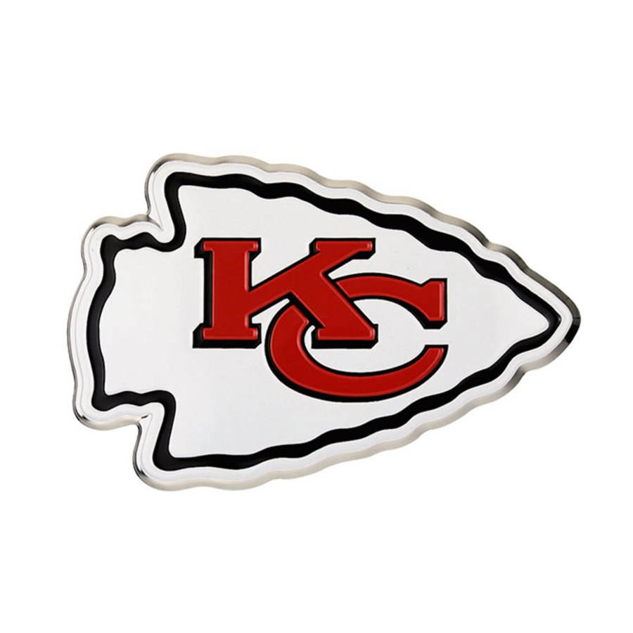 Kansas City Chiefs Logo - Kansas City Chiefs Color Emblem 3 Car Team Decal