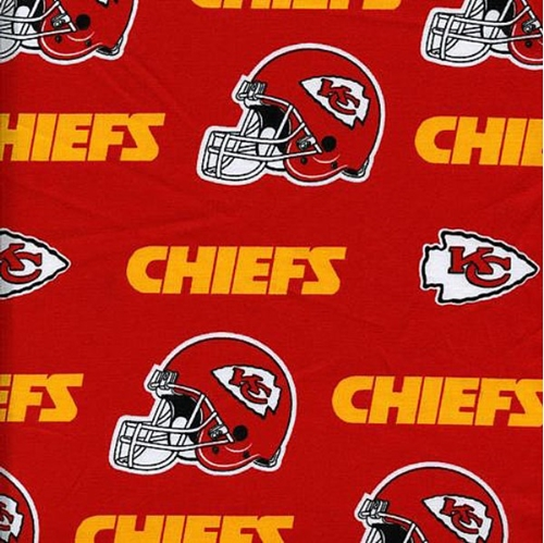 Kansas City Chiefs Logo - Cotton Fabric - Sports Fabric - NFL Football Kansas City Chiefs ...